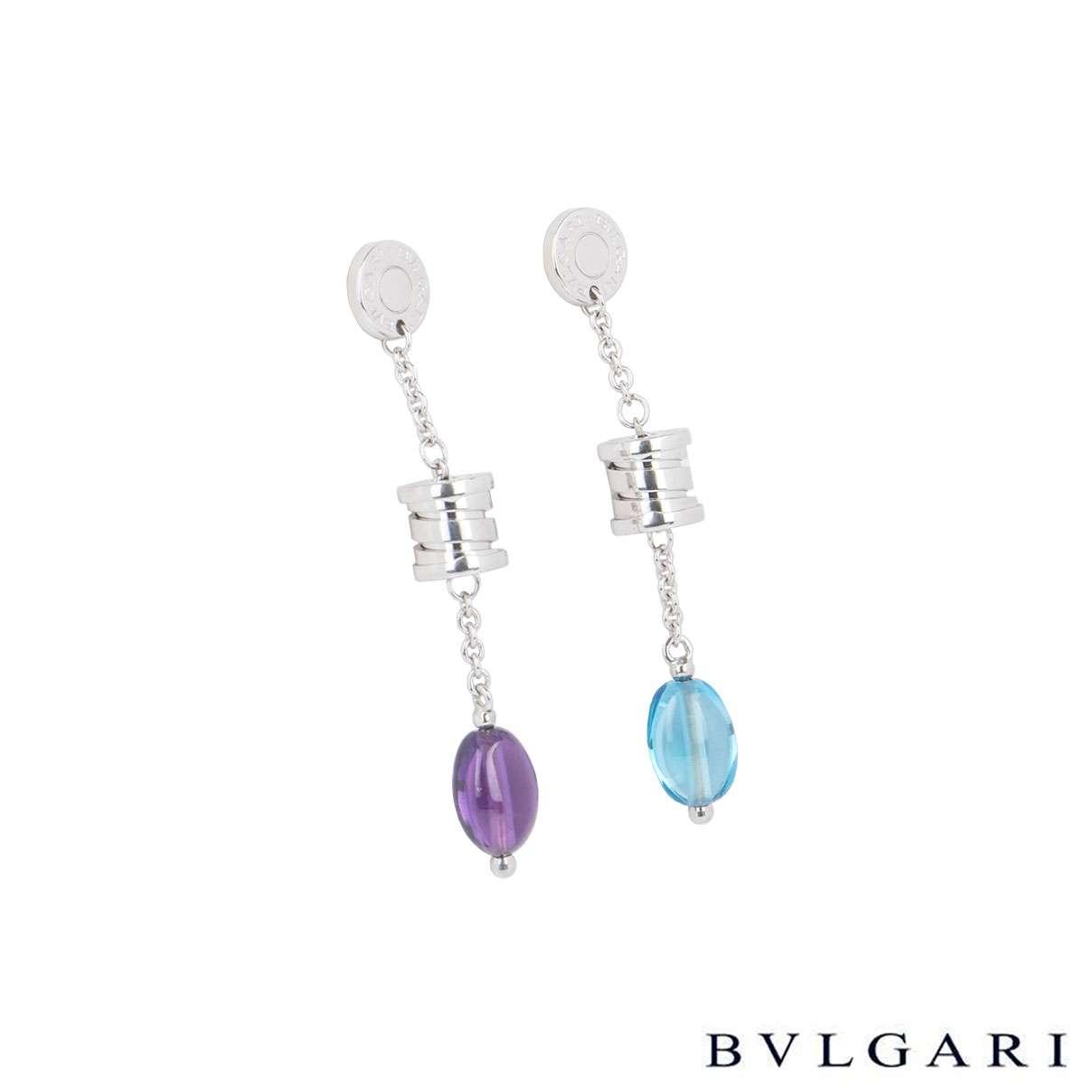 Bvlgari White Gold Amethyst And Topaz B.Zero1 Jewellery Suite